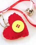 Faça você mesma: chaveiro de coração!