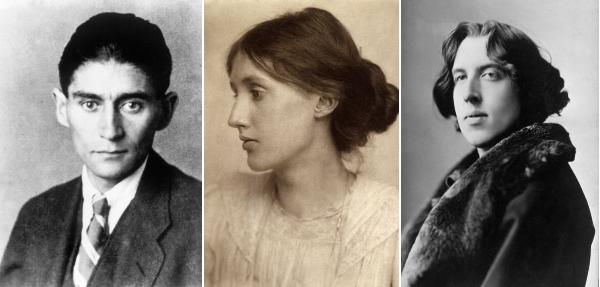 Franz Kafka, Virginia Woolf e Oscar Wilde.