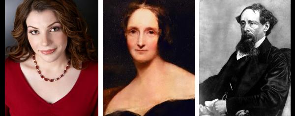 Stephenie Meyer, Mary Shelley e Charles Dickens.