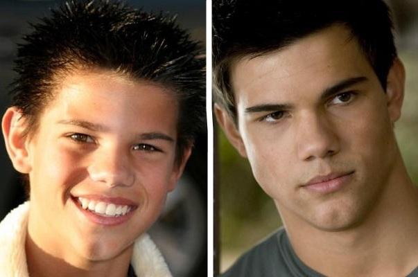Taylor Lautner antes e depois da fama