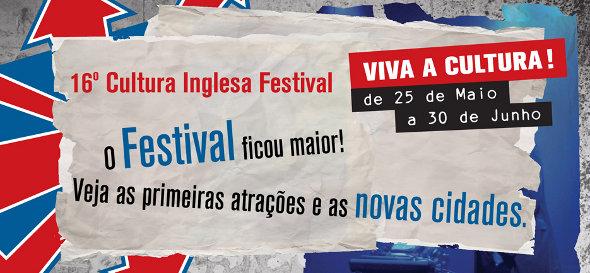 16º Cultura Inglesa Festival começa no dia 25 de maio