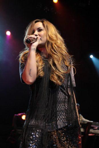 Demi Lovato em show em São Paulo
