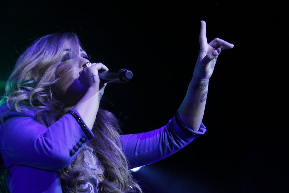 Demi Lovato no show do Rio de Janeiro