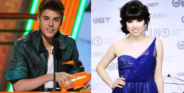 Carly Rae Jepsen vai fazer dueto com Justin Bieber