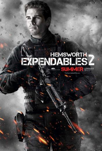 Liam Hemsworth no poster de Os Mercenários 2