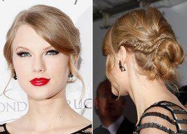 Seis penteados de Taylor Swift para se inspirar!
