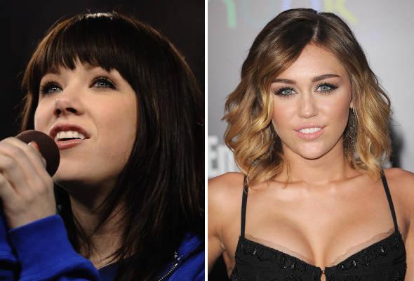 Carly Rae Jepsen confunde irmã de Miley Cyrus com a diva