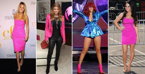 Blake Lively, Fergie, Rihanna e Jojo de neon