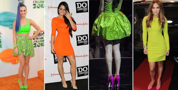 Jennifer Lopez, Selena Gomez, Katy Perry e Jojo de neon