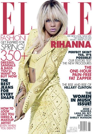Rihanna na capa da Elle magazine