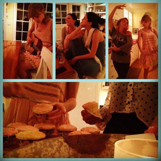 Selena Gomez e Taylor Swift fazem cupcakes