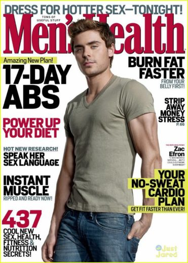 Zac Efron na capa da Men´s Health
