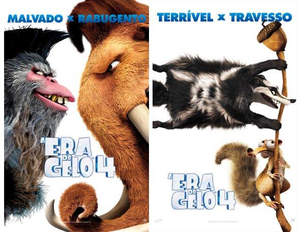 Fox Filmes divulga cartazes de A Era do Gelo 4