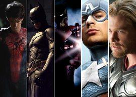 Lançamentos com filmes de super-heróis