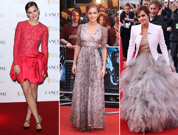 Emma Watson com roupa de gala