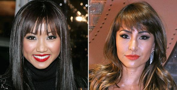 Brenda Song e Sabrina Sato com batom vermelho