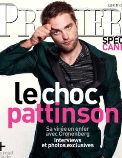 Robert Pattinson na capa da revista Premiere