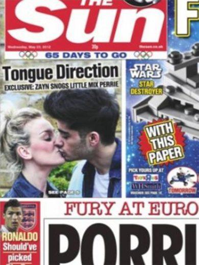 Zayn Malik é flagrado aos beijos com cantora da banda Little Mix