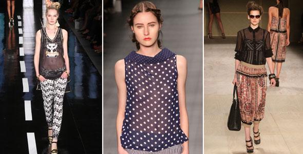 A transparência apareceu nos principais desfiles das semanas de moda brasileira.