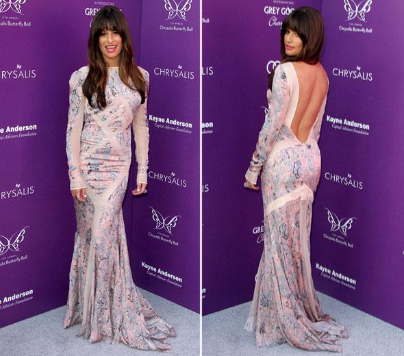 Lea Michele veste Emilio Pucci no 11º Chrysalis Butterfly Ball