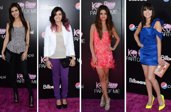 Celebs marcam presença na estreia do filme de Katy Perry