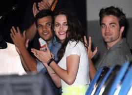 Kristen Stewart e Robert Pattinson vão juntos ao Comic Con