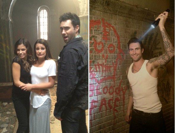 "Adam Levine e Lea Michele participam juntos de ""American Horror Story"""