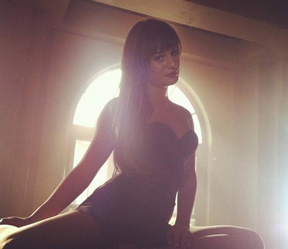 Lea Michele divulga fotos da quarta temporada de Glee