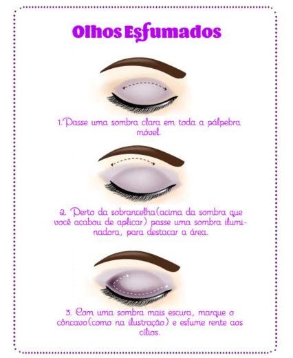 Como esfumar os olhos