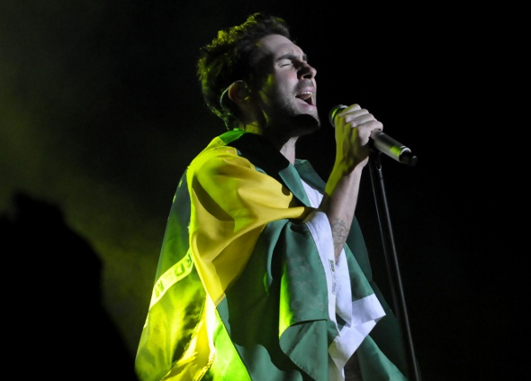 Maroon 5 elogia público brasileiro depois de shows