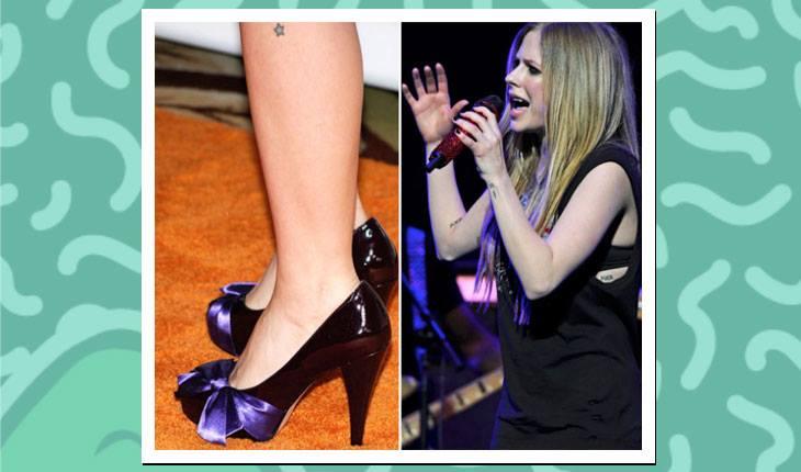 Tatuagens das famosas: Avril Lavigne