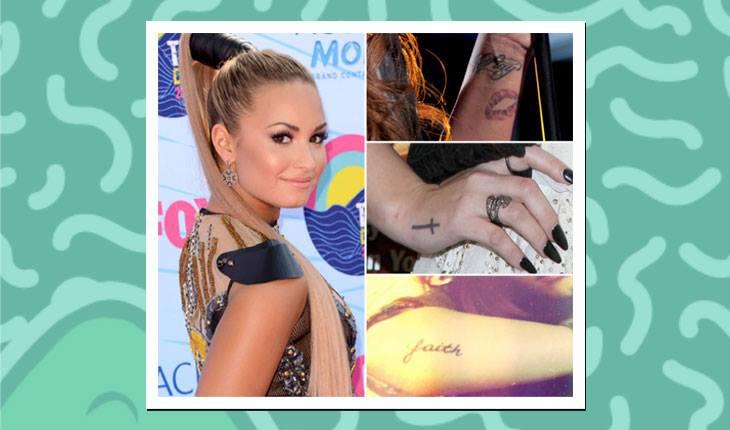 Tatuagens das famosas: Demi Lovato