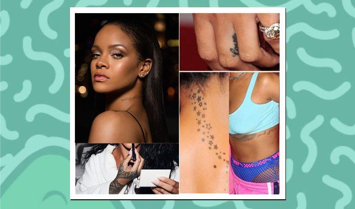 Tatuagens das famosas: Rihanna