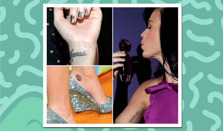 Tatuagens das famosas: Katy Perry