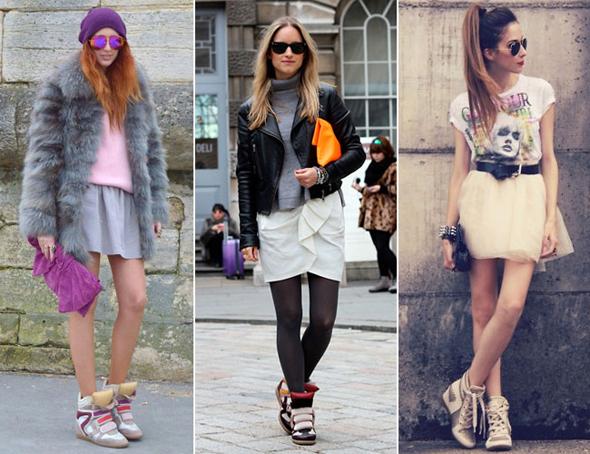 Como usar sneakers com saia
