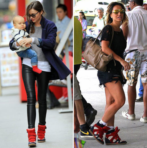 Miranda Kerr e Sabrina Sato usando sneaker