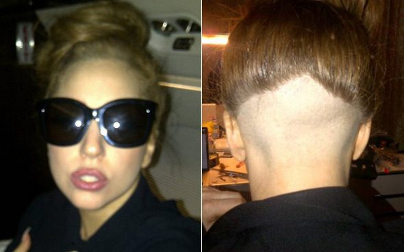 OMG! Lady Gaga raspa os cabelos :O