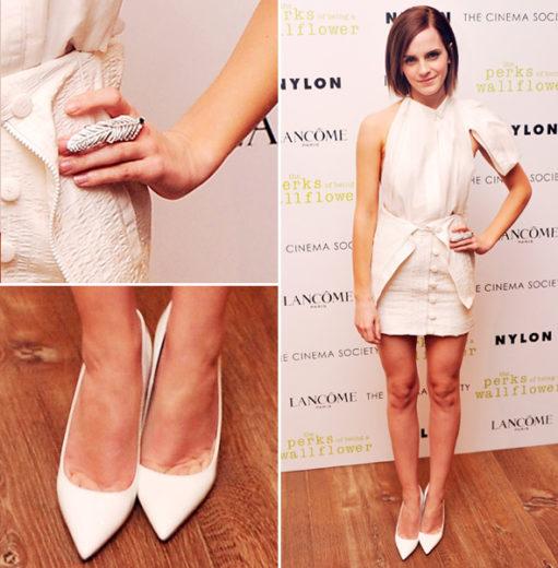 Emma Watson usa look Off White em première de As Vantagens de Ser Invisível