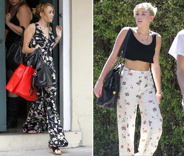 Miley Cyrus - estampa floral