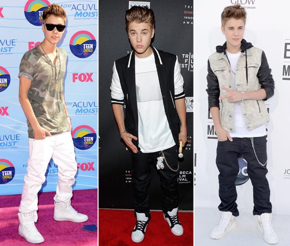 O estilo de garotos famosos - Justin Bieber