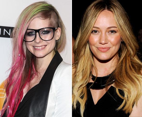 Mechas 3D - o que são e como fazer - Avril Lavigne e Hilary Duff