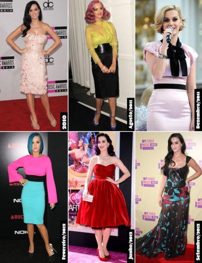 Várias cores de cabelo - Katy Perry