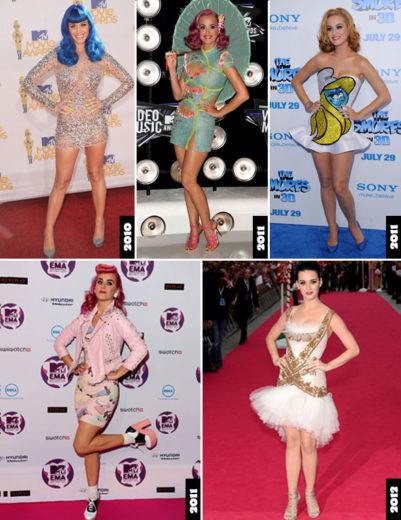Katy Perry com figurinos diferentes