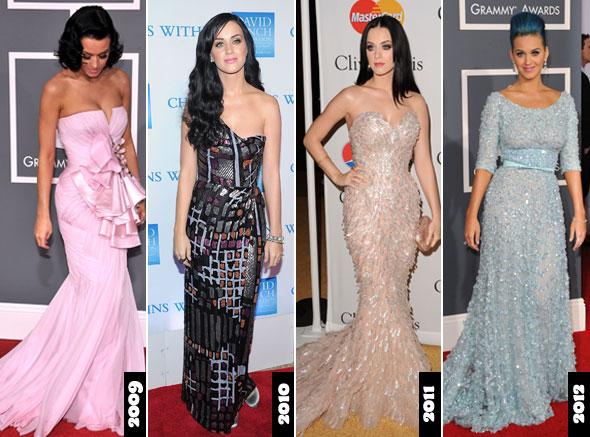 Katy Perry com vestidos longos