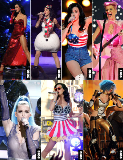 Katy Perry com figurino de show