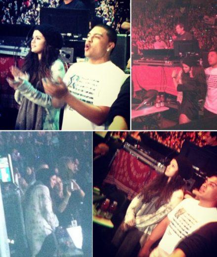 Selena Gomez viaja para assistir show de Justin Bieber