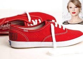 Taylor Swift lança tênis inspirado em seu novo álbum