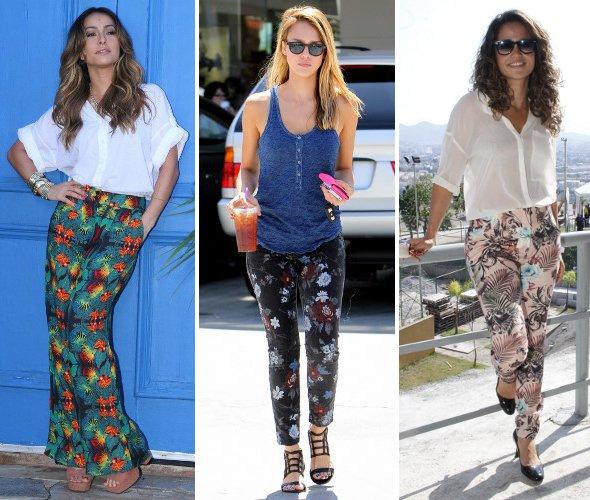 Como usar as calças estampadas da moda