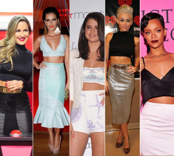 As tendências do verão 2013 - atrizes usando cropped top