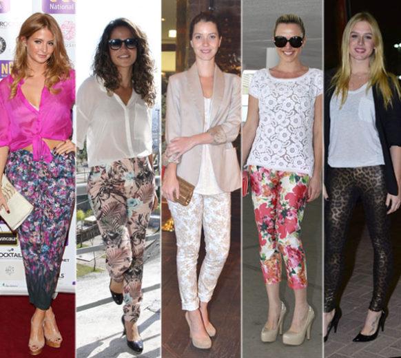 As tendências do verão 2013 - atrizes com calça estampada